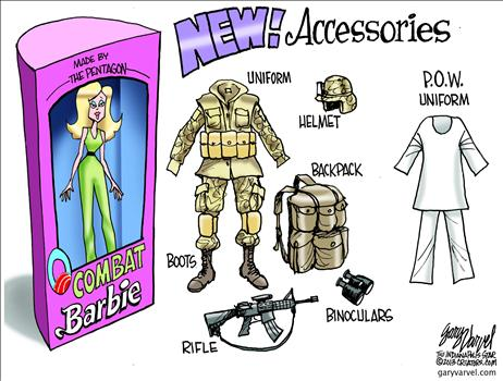 Gary Varvel - Women in Combat